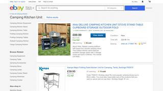 eBay Camping Kitchen Units