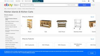 eBay Kitchen Island