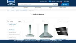 Wickes Cooker Hoods